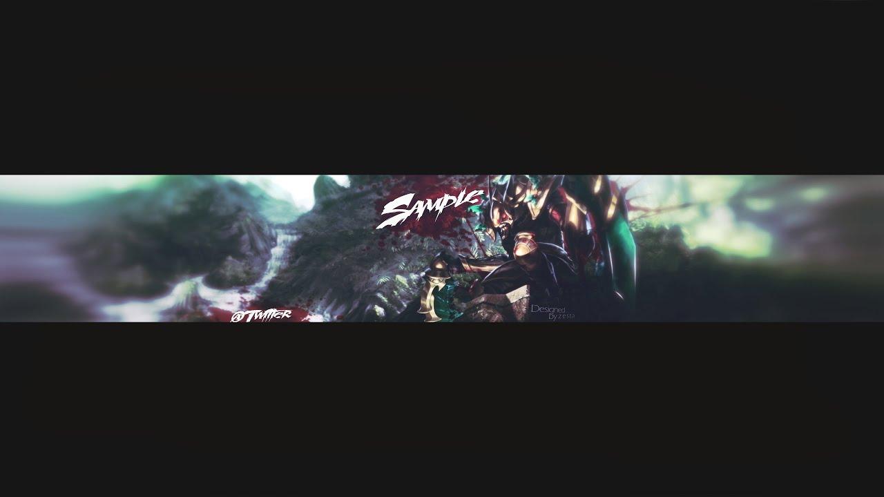Kha'zix YouTube Banner Template - YouTube