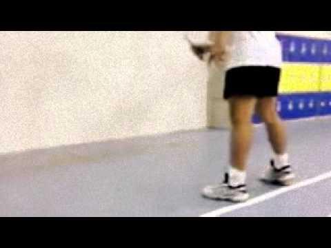 Video badminton reflex and wrist training - agustus 2015