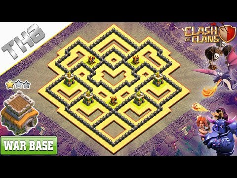 NEW! Clash Of Clans Town Hall 8 (TH8) War Base 2018 – Clash Of Clans