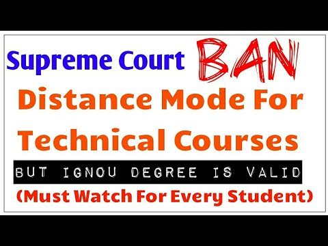 Supreme Court Ban Distance Mode For Technical Courses Like Engineering, Medical, Pharmacy, Etc.!!