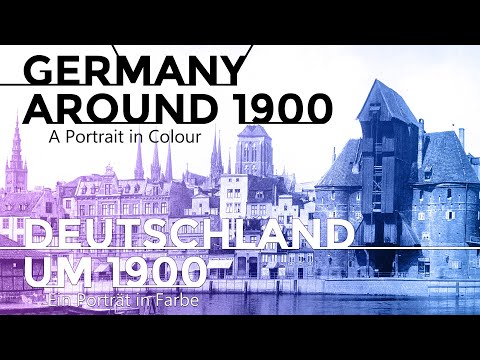 A Lost Land: Germany around 1900. Blue Danube by Strauss. Daily life in color.