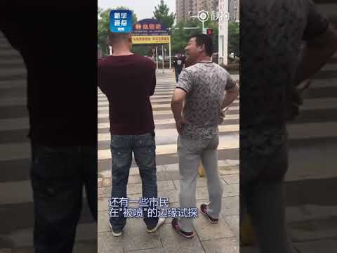 Hubei city fights jaywalkers with automatic mist sprayers