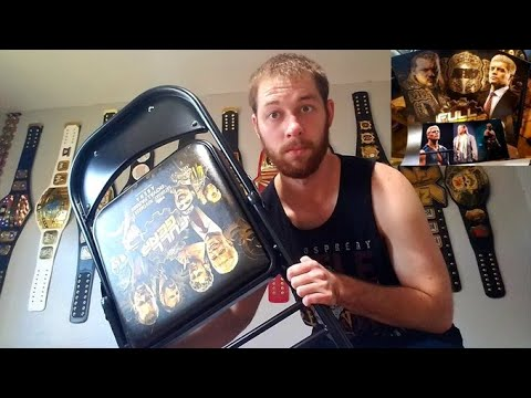 AEW FULL GEAR COMMEMORATIVE CHAIR, VIP Poster, Professional Photographs, VIP Lanyard UNBOXED!!