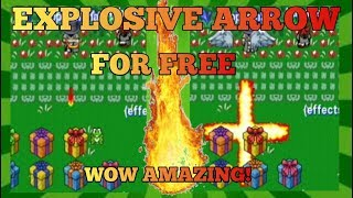 ✔Graal Classic Online:How to Use and Get Explosive Arrow It's FREE just need bomb and bow!
