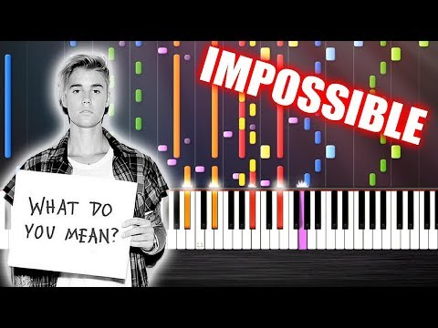 Justin Bieber - What Do You Mean? - IMPOSSIBLE PIANO by PlutaX