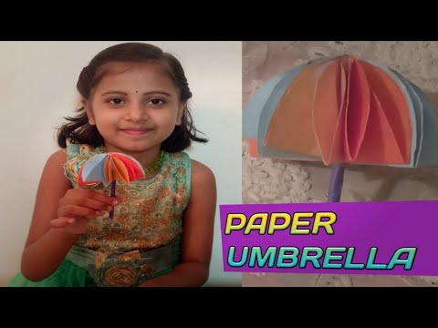 HOW TO MAKE A PAPER UMBRELLA WITH COLOUR PAPERS|DIY PAPER CRAFT FOR KIDS|GREESHMA LIFESTYLE