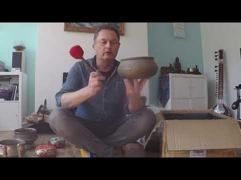 Antique singing bowls unboxing