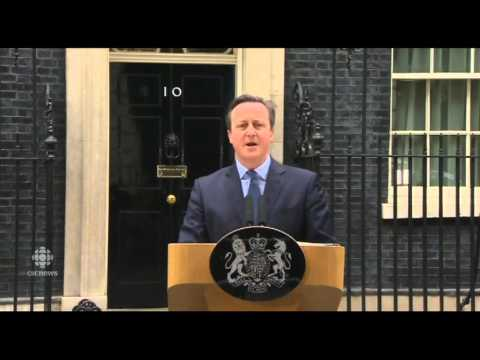 PM David Cameron announces UK in-out referendum on the EU