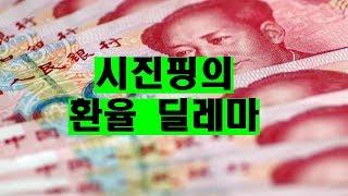시진핑의 환율 딜레마. 올리자니 중국몽이 깨지고 내리자니 달러가 딸리고.