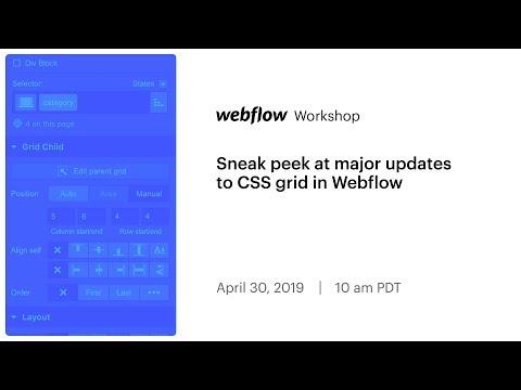 Sneak peek at major updates to CSS grid in Webflow