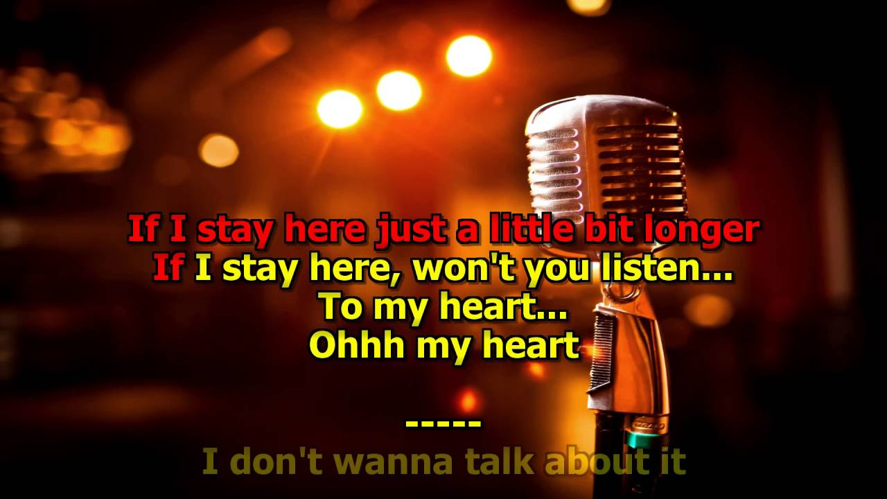 I Dont Want To Talk About It Hd Karaoke Rod Stewart Youtube