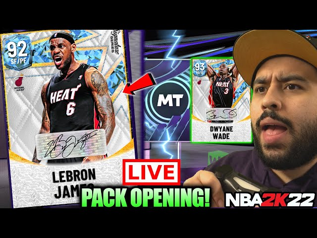 THE BIGGEST BIRTHDAY LEBRON JAMES SIGNATURE SERIES PACK OPENING IN NBA 2K22 MYTEAM