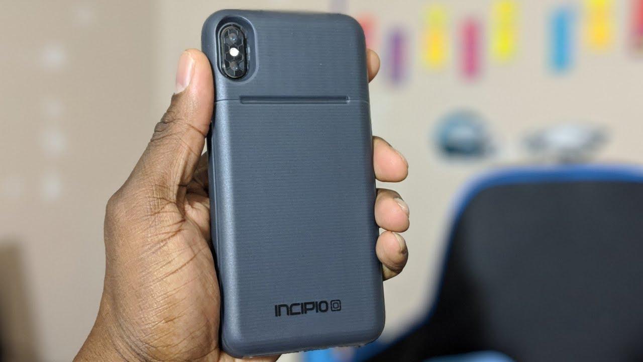 new style 5cd84 b51ed iPhone XS Max Incipio Stashback Case