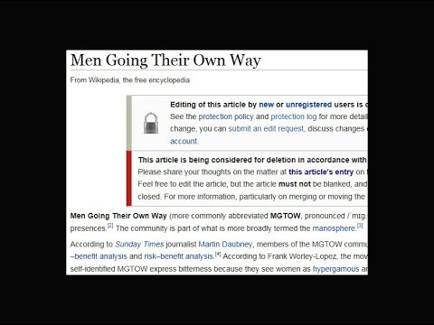 MGTOW IS ON WIKIPEDIA AND WE MUST FIGHT TO KEEP IT THERE!!!!