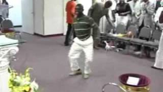 Crazy Guy Dancing in Church