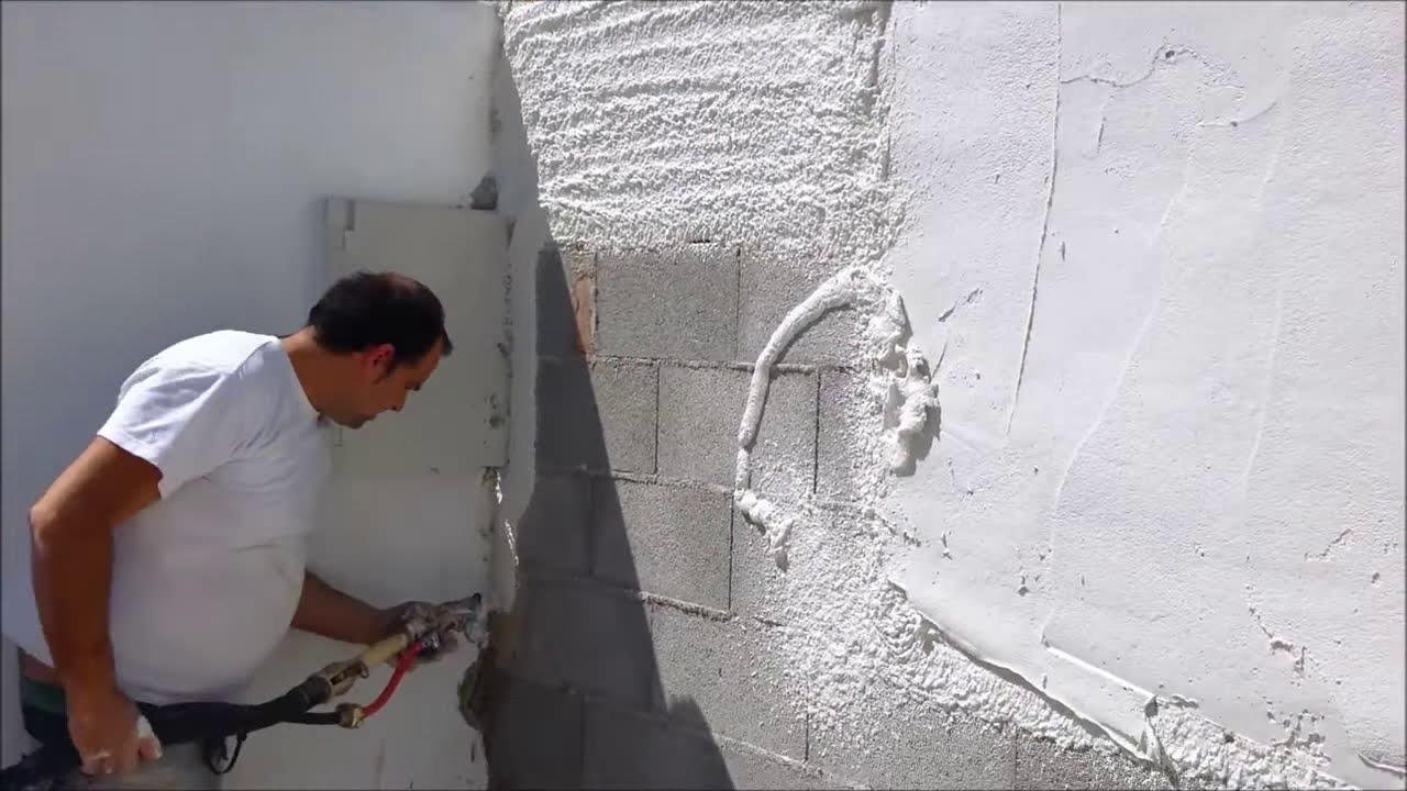 Enfoscado proyectado muro youtube for Fratasado de hormigon