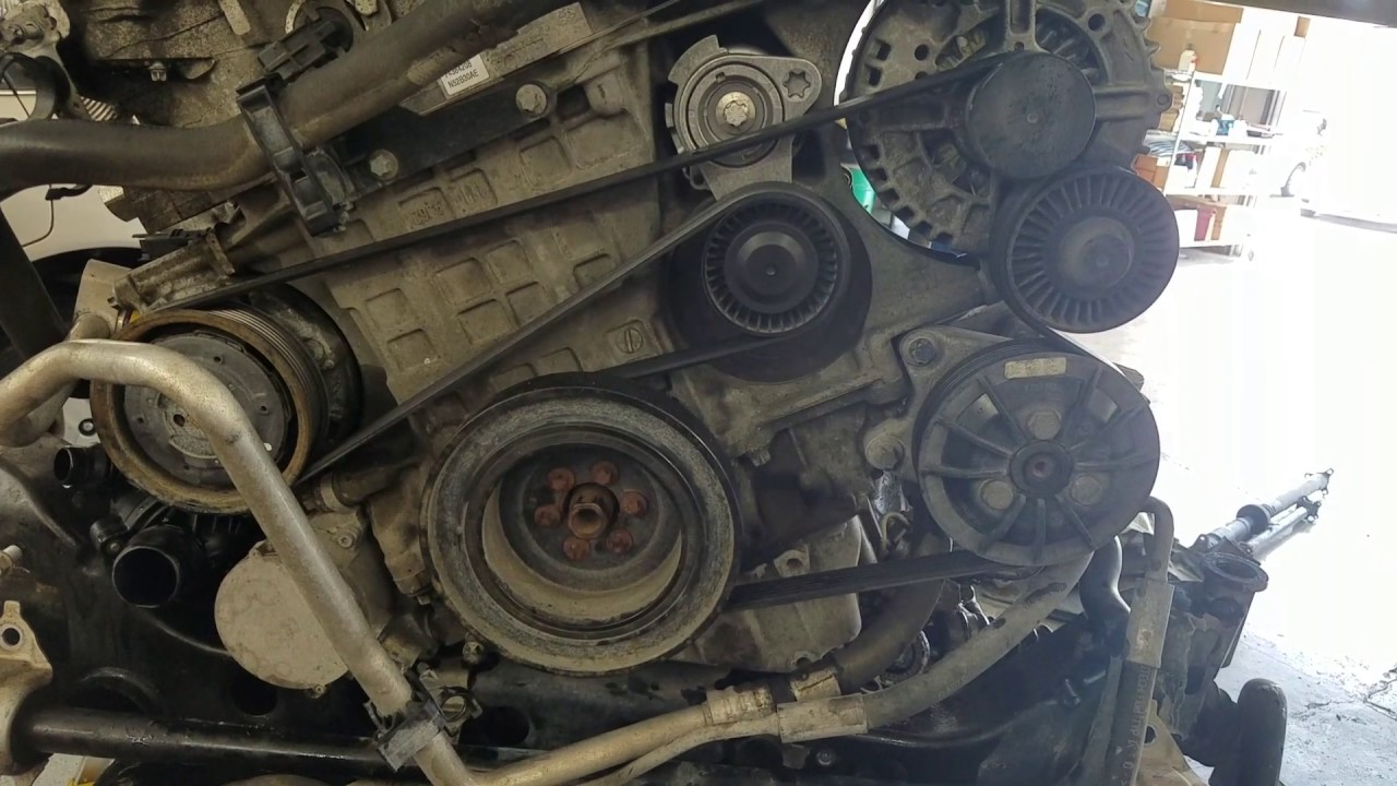 2006 bmw 325i engine diagram human arterial and venous system serpentine belt 328xi - youtube