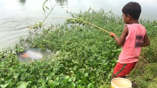 Amazing Hook Fishing Video   Traditional Hook Fishing in Village Smart By Fishing With Hook.
