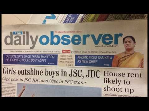 The daily observer wrongly printed sasikala pushpa picture instead of sasikala