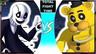 W.D. Gaster vs Golden Freddy (Undertale vs FNaF World) Total Fight Time Bonus 1