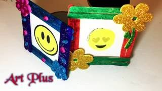 DIY Craft Easy Photo Frame Popsicles sticks! Art Plus