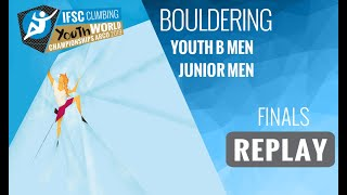 IFSC Youth World Championships - Arco 2019 - BOULDER - Finals - Youth B Men - Junior Men