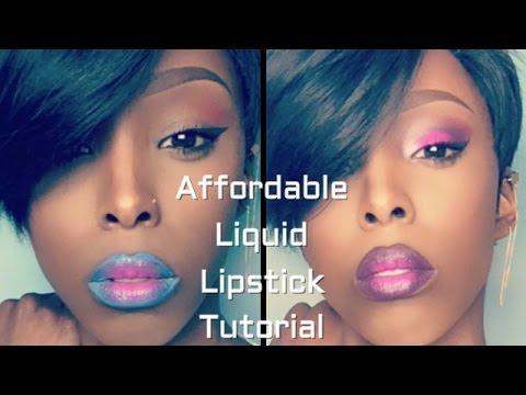 full-face-using-only-liquid-lipsticks-challenge||liquid-lipstick-ombre-lip-(easy-makeup-tutorial)