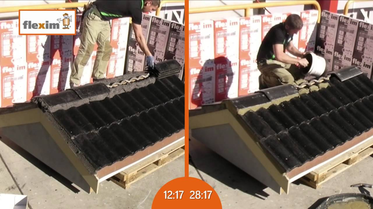 Flexim Roof Putty   YouTube