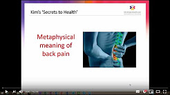 Kim Knight - Metaphysical / Emotional Cause of Back Pain