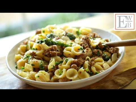 Beth's Orecchiette Pasta With Sausage And Broccoli Recipe |ENTERTAINING WITH BETH
