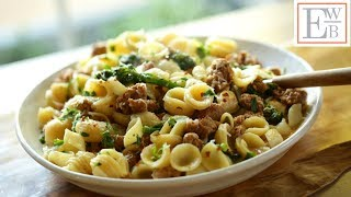 How-To Make Orecchiette Pasta with Sausage and Broccoli Recipe |ENTERTAINING WITH BETH