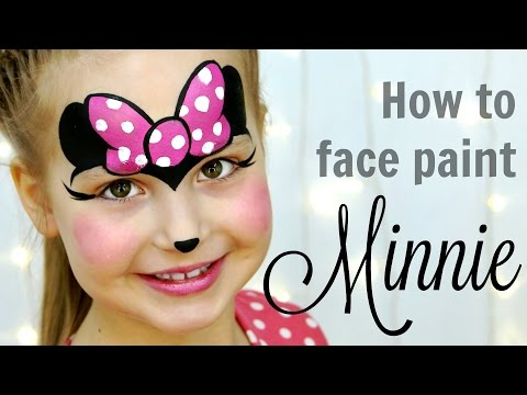 Minnie Mouse Makeup For Kids Fast Easy Face Painting Tutorial