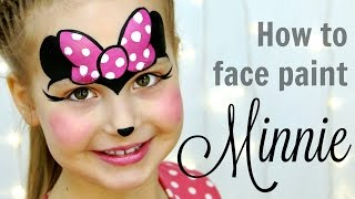 """Minnie Mouse"" Makeup for Kids — Fast & Easy Face Painting Tutorial"