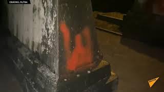 Оскверненное в Литве советское братское кладбище показали на видео