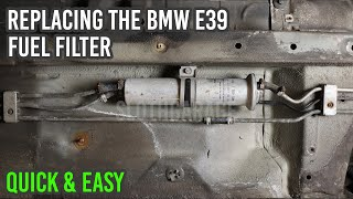 how to replace the bmw e39 fuel filter in 5 minutes | quick & easy - youtube  youtube