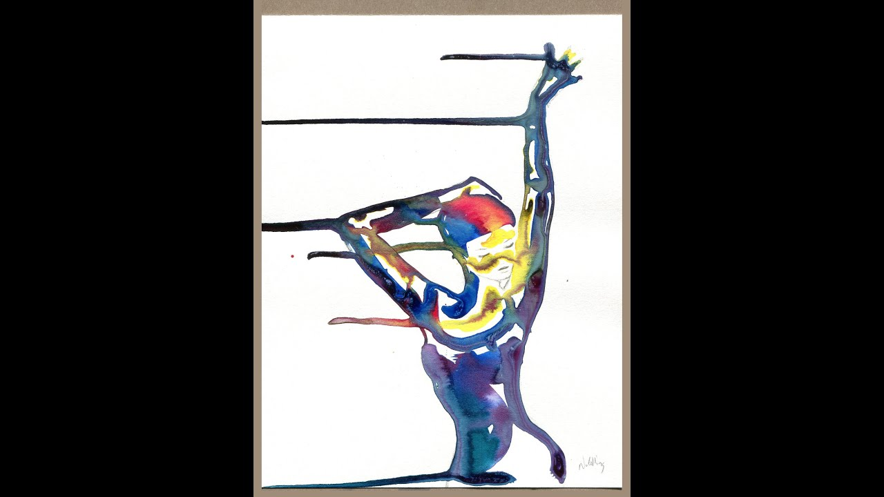 Abstract Painting Of Girl Dancing Girl Dancing Abstract Speed Painting Youtube