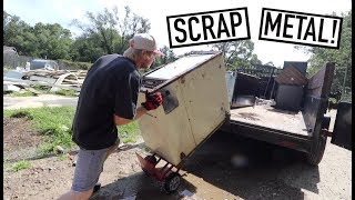 FIRST SCRAP LOAD FROM HUGE HAUL - He Gave Us ALL This Metal!