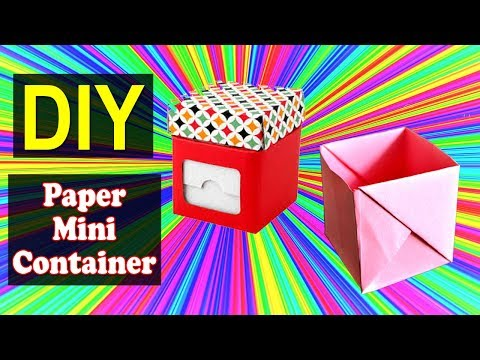 How to Make Mini Paper Container | Easy DIY Mini Container | Why Crafts