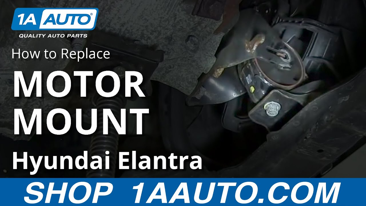 How To Install Replace Front Lower Engine Mount 2001 06 Hyundai Elantra Youtube