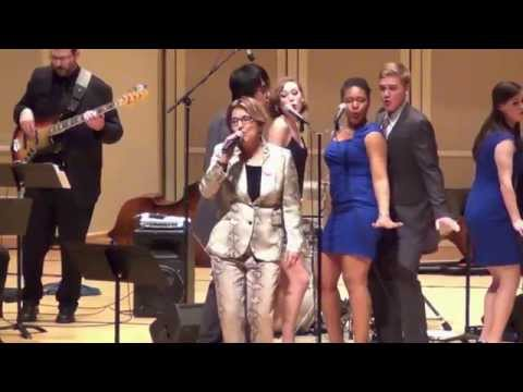 IU Vocal Jazz Ensembles ft. Janis Siegel - The Boy from New York City
