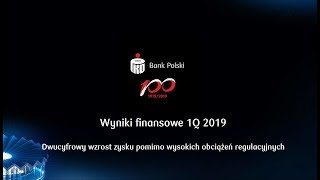 Wyniki finansowe za I kwartał 2019 roku | PKO Bank Polski
