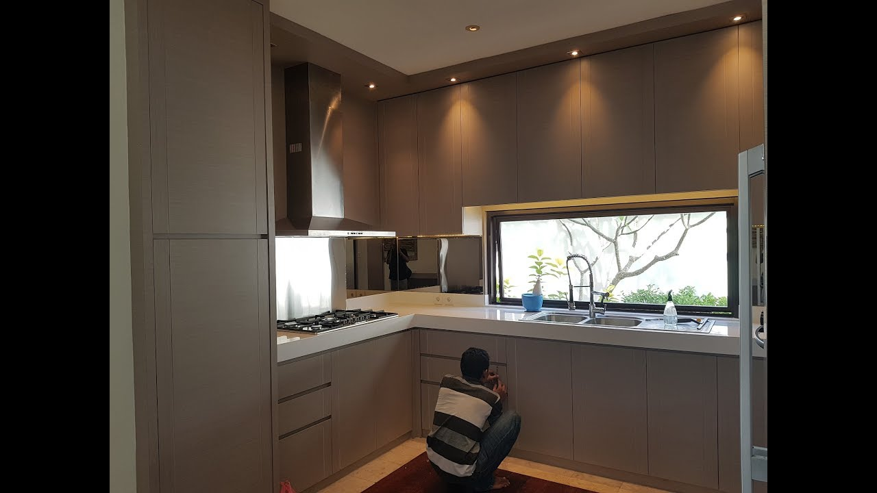 Desain Kitchen Set Minimalis Modern Sederhana Proyek Kitchen Villa Di Bali Youtube
