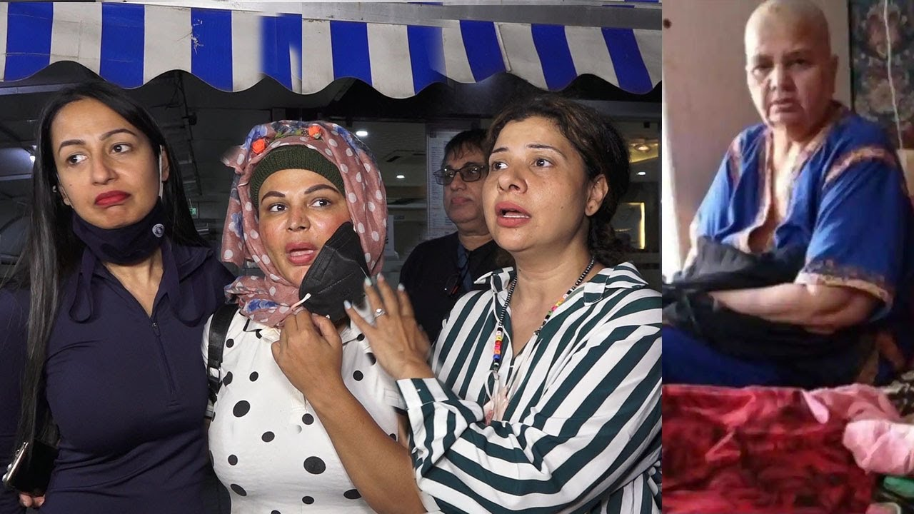 Rakhi Sawant With Sambhavna & Kashmera Speaks ABout Mom's Canser Outside Criticare Hospital