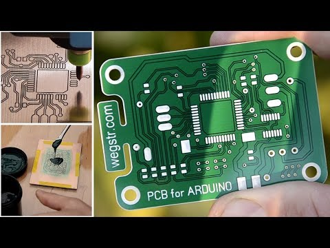 How to make a PCB prototyping with UV soldermask - pcb arduino project STEP by STEP