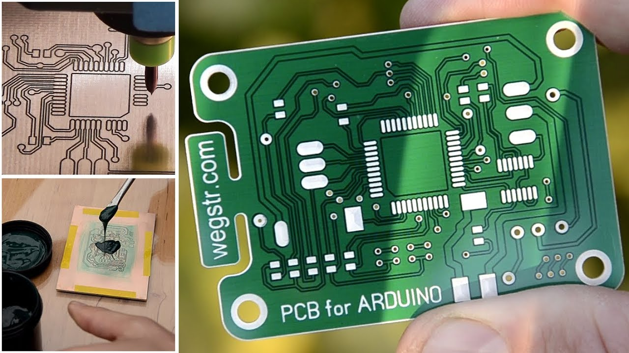 How To Make A Pcb Prototyping With Uv Soldermask Arduino What Solder Use For Circuit Boards Project Step By