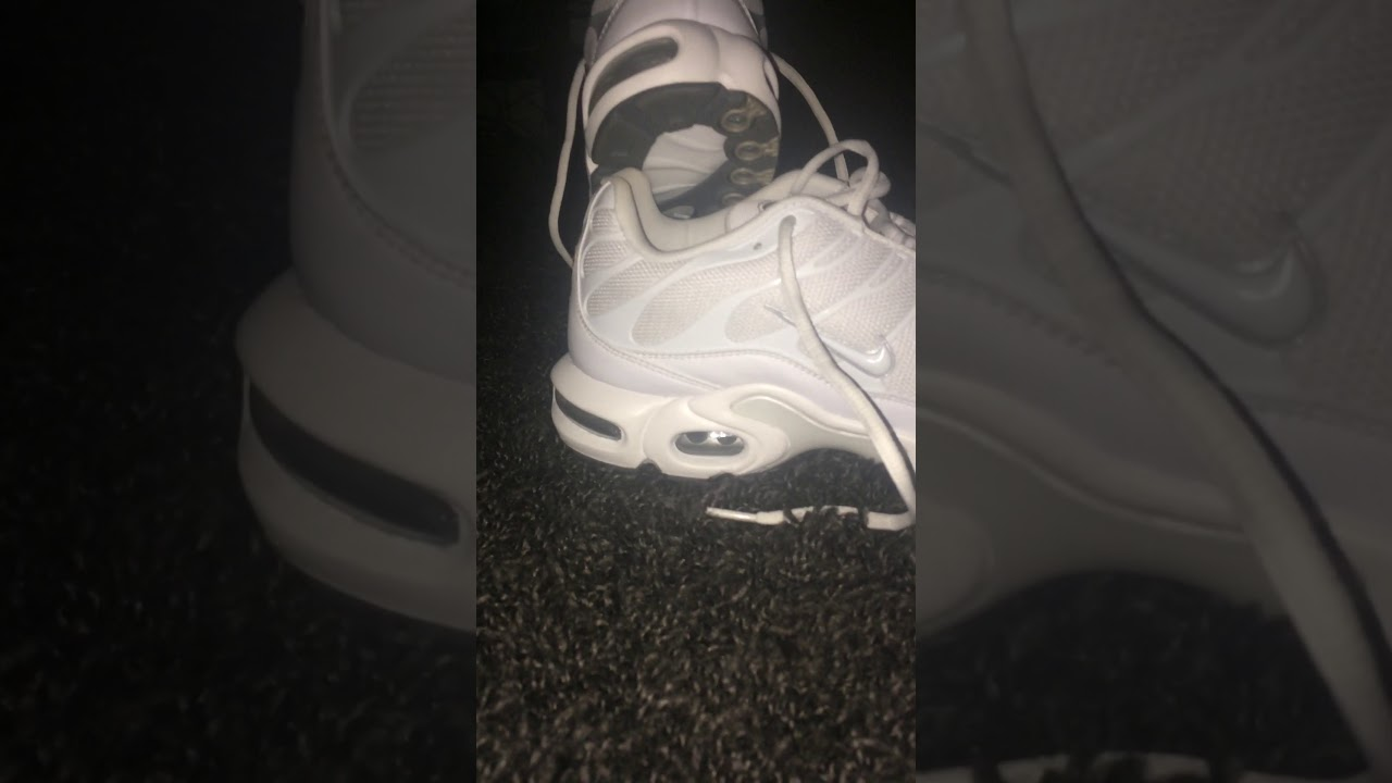 best service 14f2d ece98 Nike TNs all white (Nike Air Max Plus)