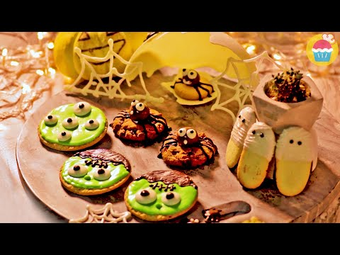 halloween-cookie-decorations-|-décorations-de-biscuits-d'halloween---halloween-treats-|-miam-et-miam