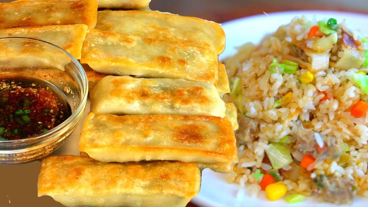 How To QUICKLY Pan Fry Frozen Dumplings + DUMPLING Fried Rice 🥟Dumpling Sauce🥟냉동만두 맛있게 굽는 법 + 만두볶음