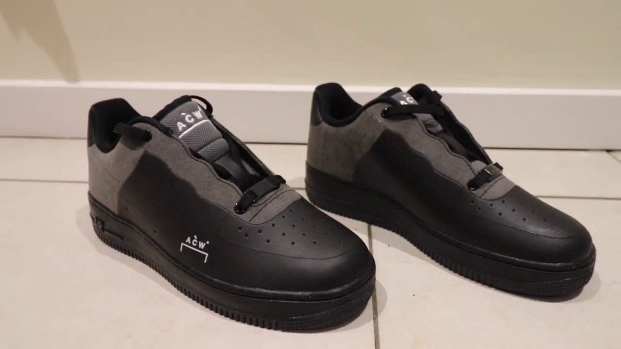 Nike Air Force 1 A COLD WALL* Black - YouTube