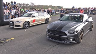 Ford Mustang GT vs Audi RS6 Avant C7